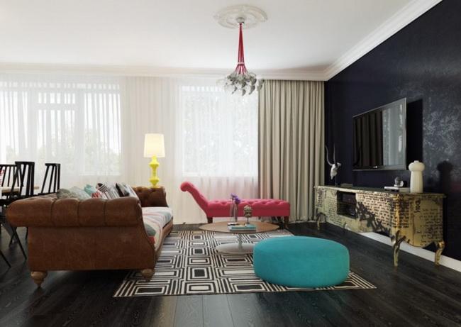 mẫu rèm cửa chống nắng đẹp cho căn hộ chung cư